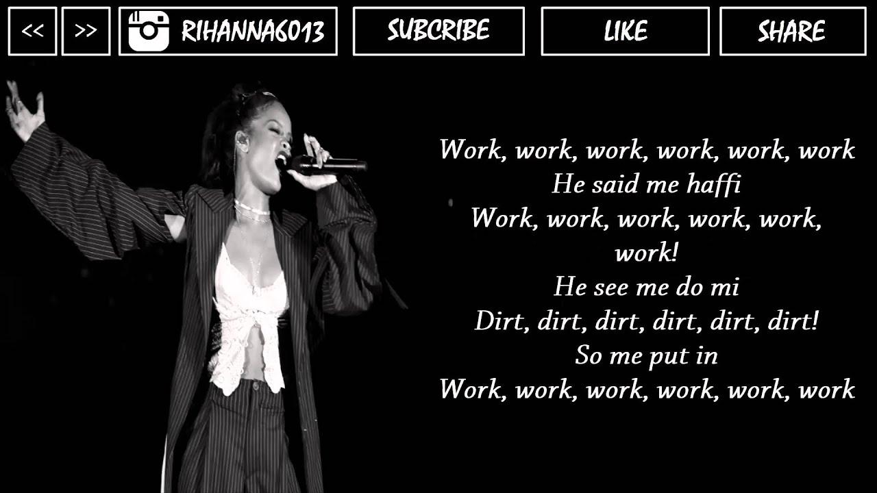 Rihanna - work (official lyrics ) Music HD #Rihanna #Anti - YouTube