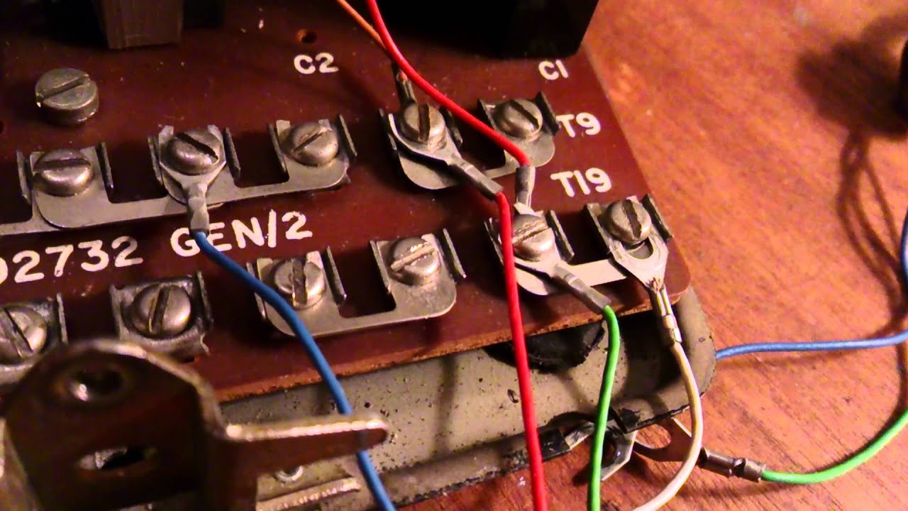 How To Connect A New Line Cord Old Dial Telephone Hd Youtube School House Wiring