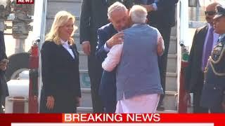 PM Narendra Modi welcomes Israel Prime Minister Benjamin Netanyahu