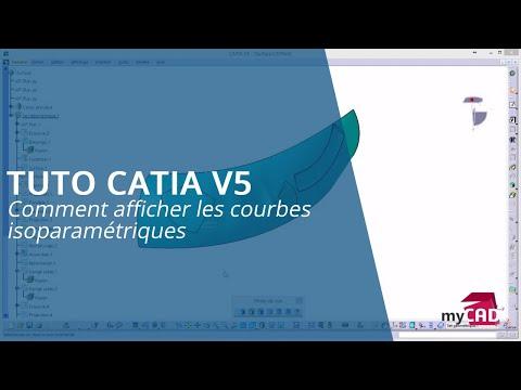 Tutoriel CATIA V5 - Comment afficher les courbes isoparamétriques