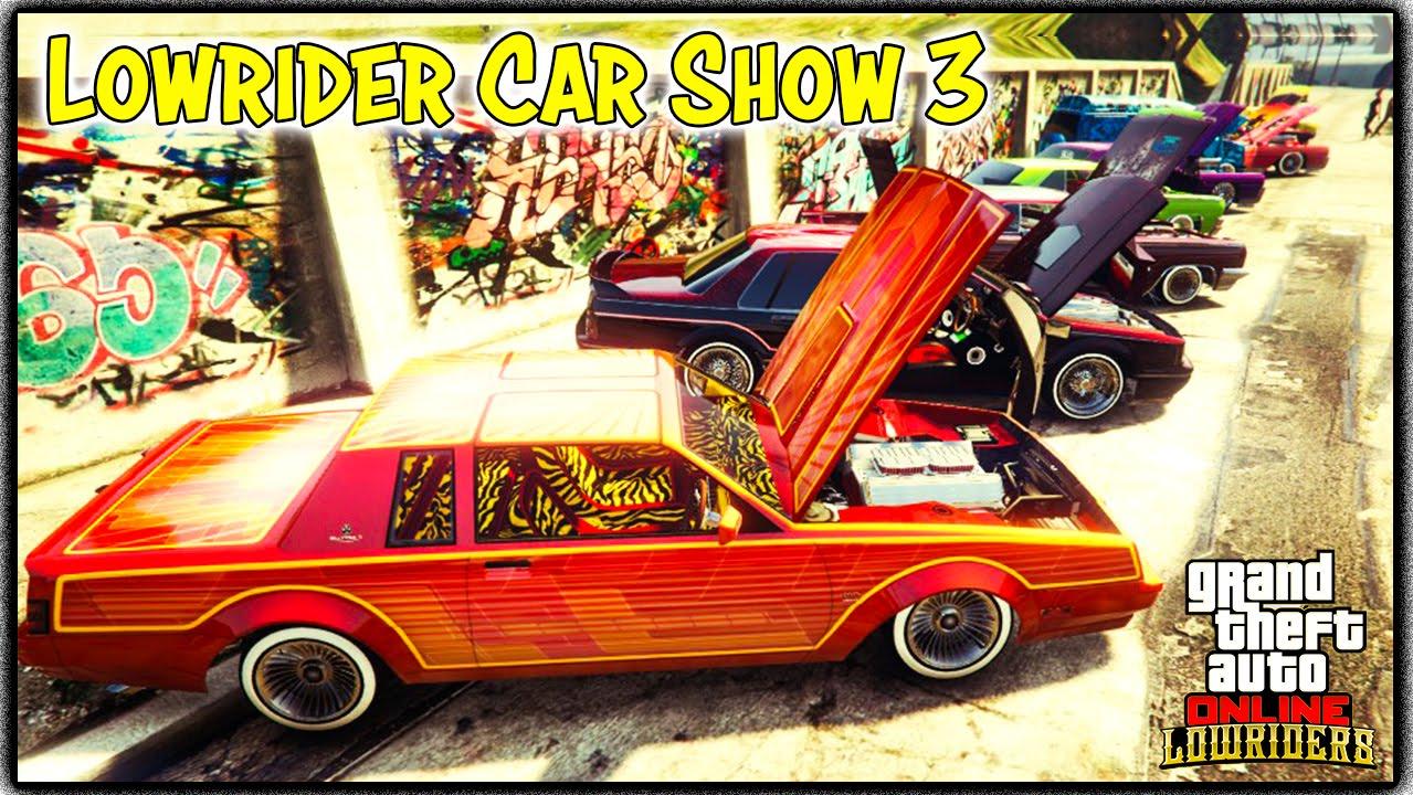 gta 5 online lowrider car show 3 gta v xbox one youtube
