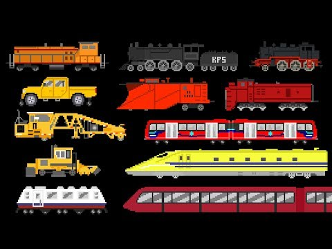 Railway Vehicles 2 - Trains and Locomotives - The Kids' Picture Show (Fun & Educational)