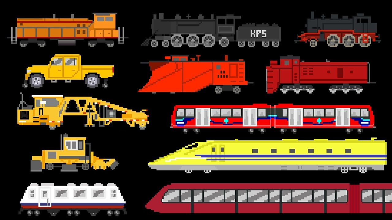 Educational Train Videos For Kids