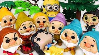 Snow White fell asleep~ Let's save the princess with Funko Dwarfs, Minion! #PinkyPopTOY