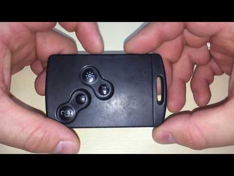 Как поменять батарейку в ключ карте рено каптур