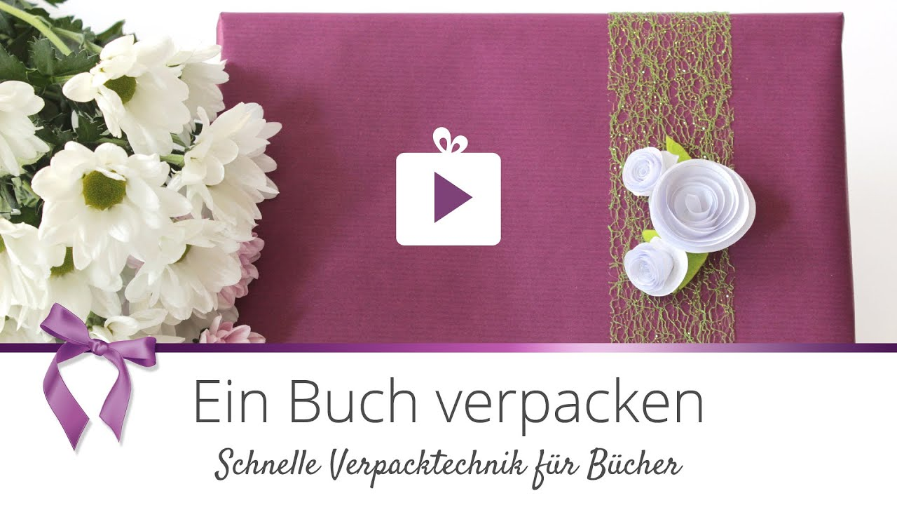 geschenke verpacken ein buch verpacken einfach danato youtube. Black Bedroom Furniture Sets. Home Design Ideas
