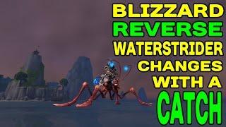 World of Warcraft LEGION: Waterstrider Nerfs Reversed With a CATCH !!