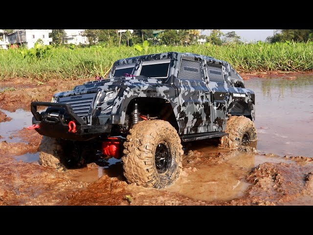 Mud Race Extreme 4x4 Rc Car - Military Truck Drive