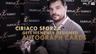 Ciriaco Sforza gets his newly designed autograph cards
