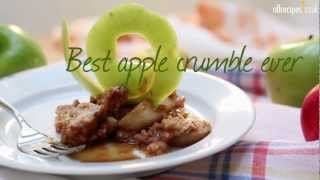 Best apple crumble ever recipe