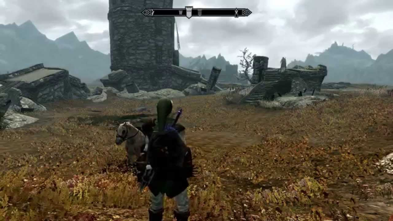 how to get sheild and sword on back skyrim