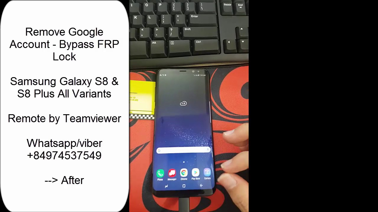 How to remove google account samsung galaxy s8 & s8 plus