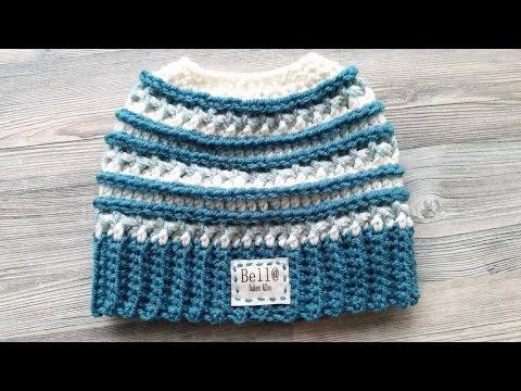 Crochet Katniss Messy Bun Hat 3 Colors