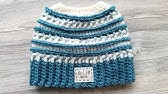 0498ff0667b Crochet Mommy   Me Messy Bun Hat - YouTube