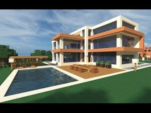 minecraft how to build a modern house best modern house 2013 2014 hd tutorial - Coolest House In The World 2014
