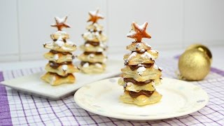 Puff Pastry Christmas Trees with Nutella - Easy Christmas Dessert Recipe