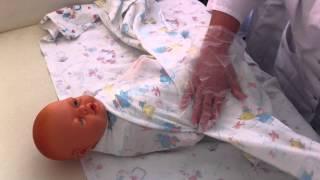 Как пеленать новорожденного ребенка