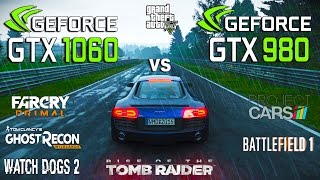 Скачать GTX 980 Vs GTX 1060 Test In 7 Games I5 6600k