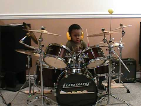 The Who - Won't Get Fooled Again, Drum Cover, 4 Year Old Drummer