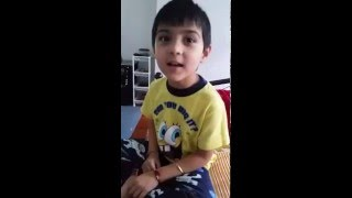 kid singing hindi song hum tere bina.... soo funny