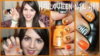 Halloween Nail Art | One-eyed Monsters!