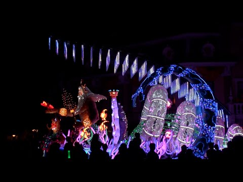 Disney: Paint the Night Parade (October 1, 2015 distant view)