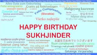 Sukhjinder   Languages Idiomas - Happy Birthday