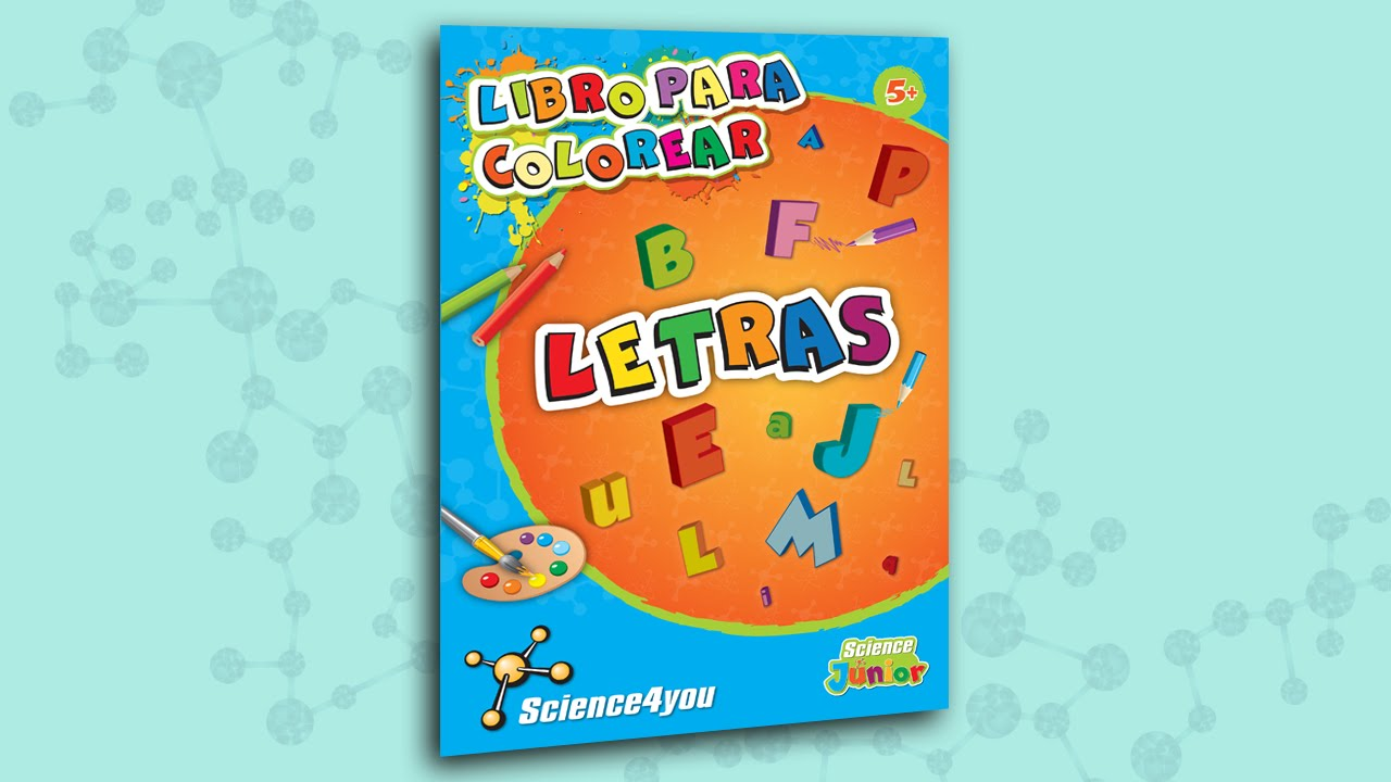 Science4you ES - Libro para colorear Letras - YouTube