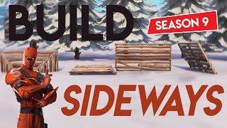 How To *Build Sideways* In Season 9 (Fortnite Glitch)