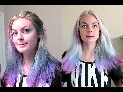Dyeing My Hair Silver & Fading My Bright Hair to Pastels!