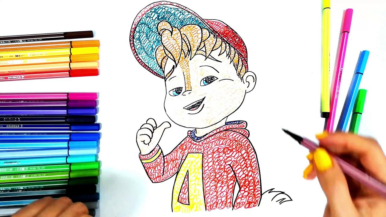 Come Colorare Il Disegno Di Alvin Superstar Art To Be Kids