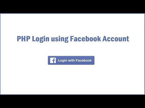 PHP Login Using Facebook Account