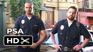 Let's Be Cops PSA - Frame The Dog (2014) - Jake Johnson, Damon Wayans Jr. Movie HD