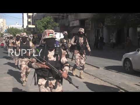 "State of Palestine: Al-Aqsa Martyrs"" Brigades mark Fatah movement""s 55th anniversary"