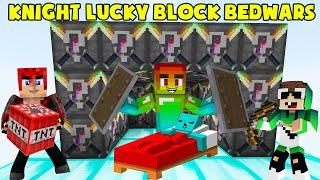 MINI GAME : KNIGHT LUCKY BLOCK BEDWARS ** T GAMING THỬ THÁCH HIỆP SĨ NOOB PHÁ HỦY GIƯỜNG ??