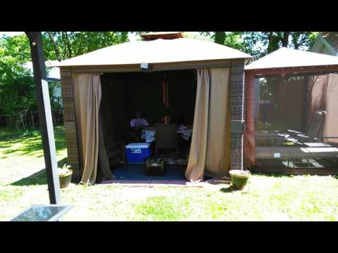 That Was My Gazebo From Big Lots We're Getting My Curtains Put Back Up For Friday Night Party And E