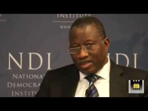 Goodluck Jonathan, former President of Nigeria Talking about Tanzanian national elections
