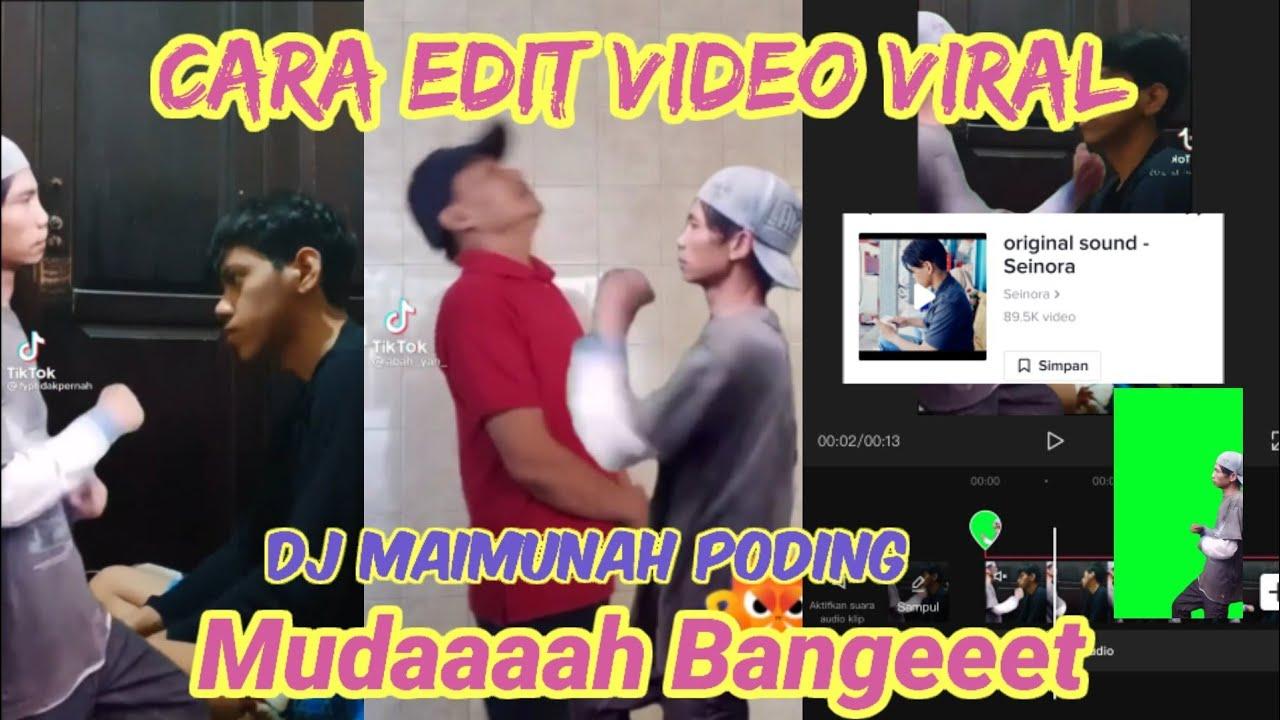 Download Cara Edit Video Tiktok Lagu DJ Maimunah Poding Mukul Pohon Yang Lagi Viral