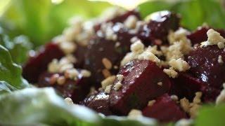 Roasted Beet Salad Recipe: Gorgonzola, Pinenuts & Mint (north African Feast Menu Part 2) || Kin Eats