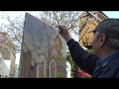 Robert Ricart live oil painting in Montmartre part 2