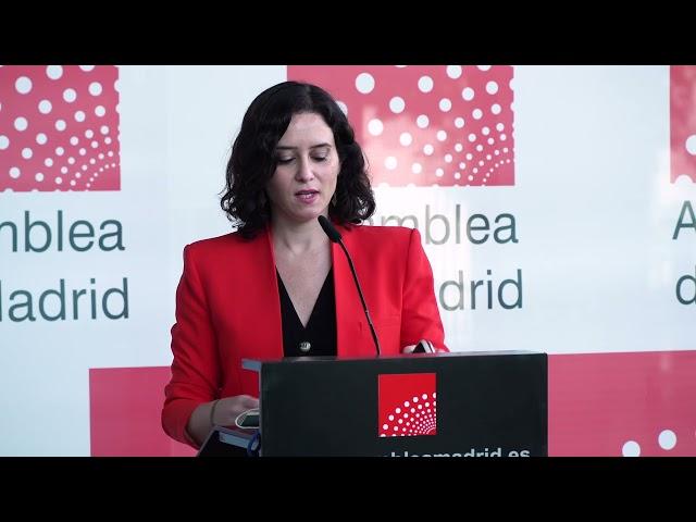 Díaz Ayuso pide a los parlamentarios