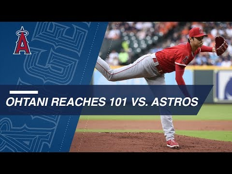 Ohtani reaches 101 and goes 5 1/3 against the Astros