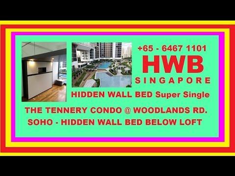 Tennery Condo.SOHO. HWB-H1080 S.Single+Top Cabinets.HDB,BTO,EC,DBSS-Wallbed,Hiddenbed,BED