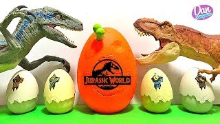 Hatching Dangerous Dinosaurs! Jurassic World Dinosaur Toys Fun Video