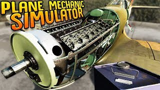 Repairing WW2 Era Planes But I know Nothing About Plane Mechanics - Plane Mechanic Simulator