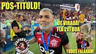 PÓS-JOGO: FLAMENGO 2x1 BOAVISTA! Mengão Campeão da Taça Guanabara de Virada! Entrevistas e Troféu!