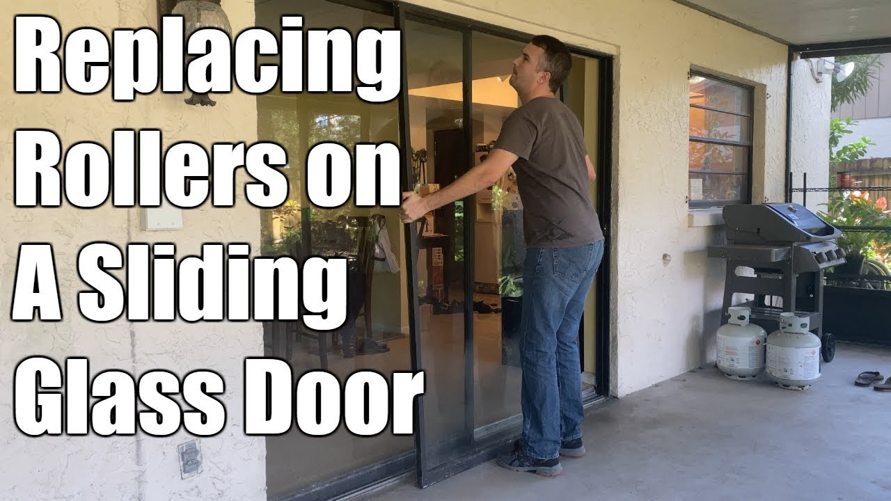 How To Replace Rollers On Sliding Glass Door Youtube