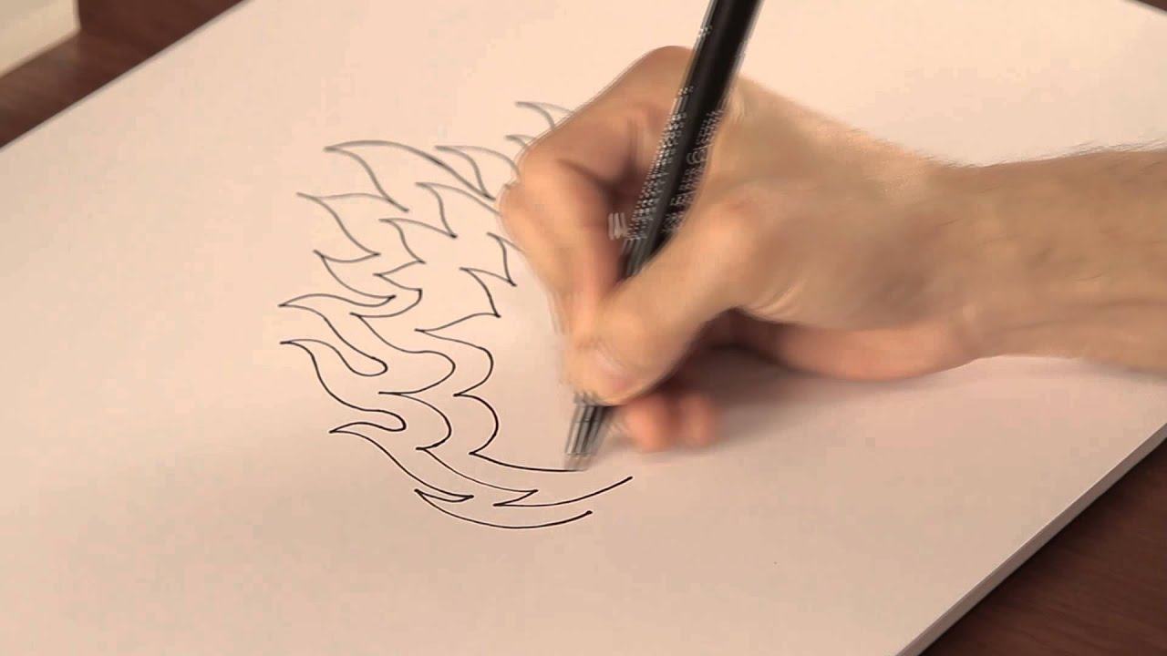Cómo dibujar llamas : Tips de dibujo - YouTube