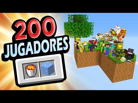 👉 Metí 200 Jugadores en Islas de SKY-BLOCK!!! Minecraft Reto
