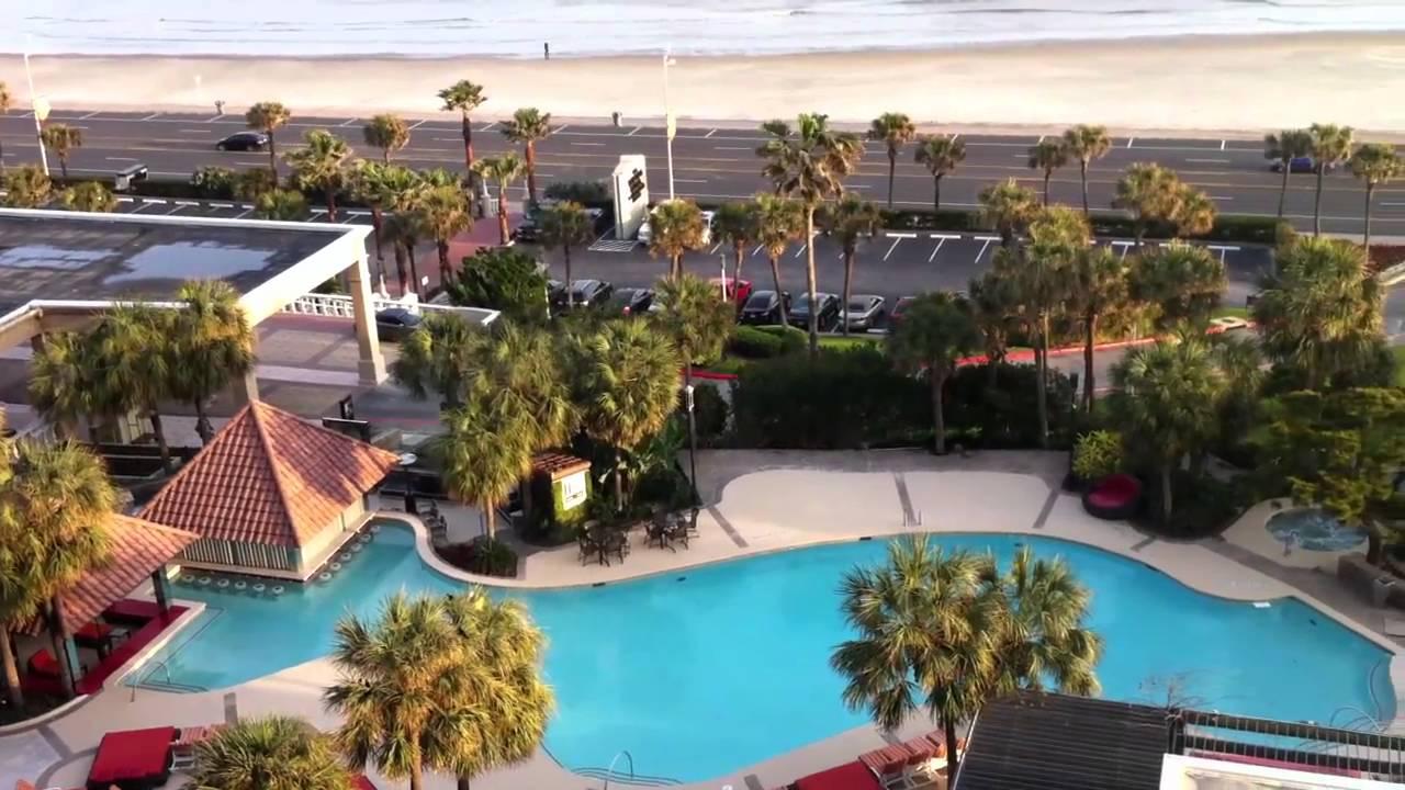Galveston Hotel Balcony Beach View At Sunset